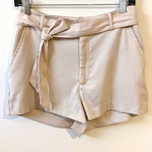 Divided Cream Linen style shorts